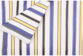 SAHYOG GWALIOR Cotton Polyester Blend Striped Shirt Fabric, Shirt & Trouser Fabric, Multi-purpose Fabric(Un-stitched)