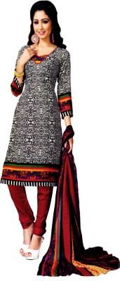 Alolah Crepe Printed Salwar Suit Dupatta Material