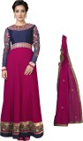 Adah Fashions Georgette Embroidered Semi...