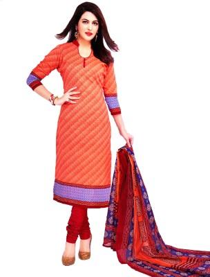 Life Style Fashion Cotton Geometric Print Salwar Suit Dupatta Material