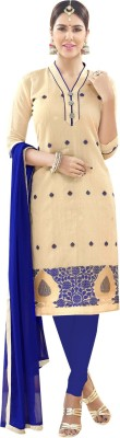 Saree Exotica Cotton Embroidered Salwar Suit Dupatta Material