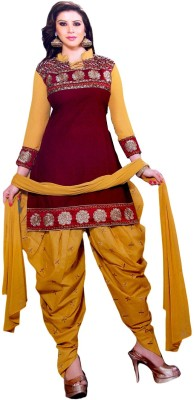 TSS Cotton Embroidered Semi-stitched Salwar Suit Dupatta Material