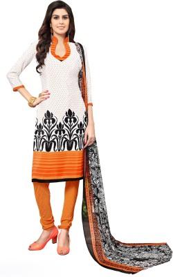 Melluha Crepe Printed Salwar Suit Dupatta Material