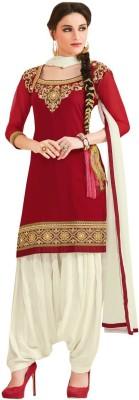 Kvsfab Georgette Embroidered Salwar Suit Dupatta Material(Un-stitched) at flipkart