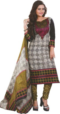 Keeps Creation Cotton Printed Salwar Suit Dupatta Material