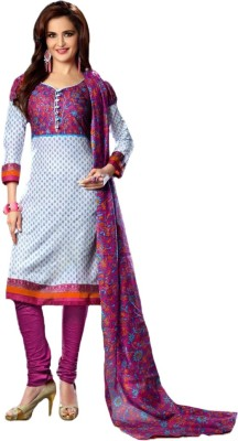 Indian Wear Online Cotton Printed Salwar Suit Dupatta Material