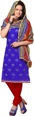 Jiya Chanderi Self Design, Embroidered Dress/Top Material