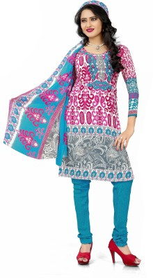 The Fashion World Georgette Printed Semi-stitched Salwar Suit Dupatta Material