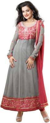 Fabdeal Georgette Self Design Semi-stitched Salwar Suit Dupatta Material