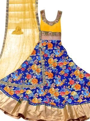 Trishulom Cloth's Online Silk Embroidered Semi-stitched Salwar Suit Dupatta Material