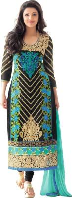 Fabfirki Fashion Hub Georgette Embroidered Semi-stitched Salwar Suit Dupatta Material