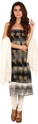 Pratamika Cotton Silk Blend Floral Print Salwar Suit Dupatta Material