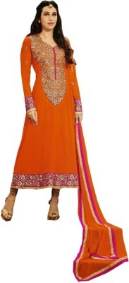JMDtrade Georgette, Georgette, Satin Embroidered Semi-stitched Salwar Suit Dupatta Material