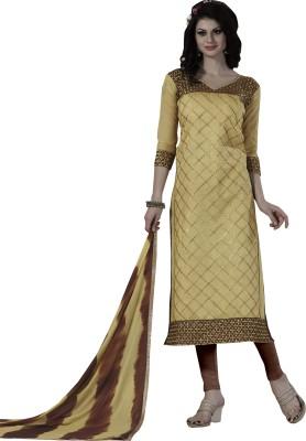 Trendz Apparels Chanderi Printed Dress/Top Material