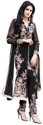 Babita Sarees Georgette Embroidered Semi-stitched Salwar Suit Dupatta Material
