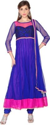 Designersareez Net Embroidered Salwar Suit Dupatta Material