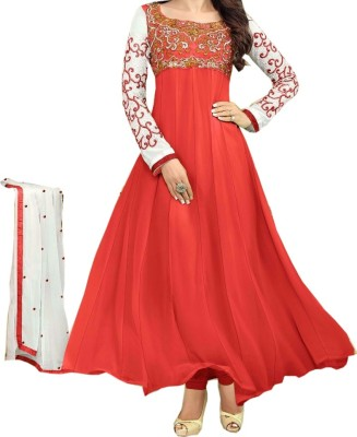 Beginning Creation Georgette Embroidered Semi-stitched Salwar Suit Dupatta Material