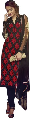 Vishal Prints Georgette Embroidered Semi-stitched Salwar Suit Material