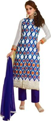 Sai Fashion Silk Embroidered Semi-stitched Salwar Suit Dupatta Material