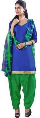 saashe boutique Georgette Self Design Salwar Suit Dupatta Material