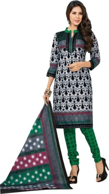 Trendiez Cotton Printed Salwar Suit Dupatta Material