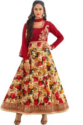 Awesome Georgette Self Design Semi-stitched Salwar Suit Dupatta Material