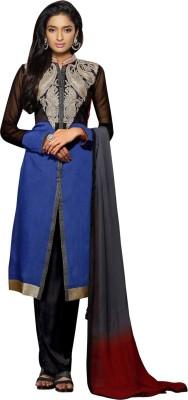 Dlines Chanderi Self Design Semi-stitched Salwar Suit Dupatta Material