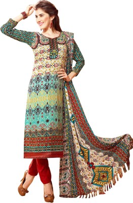 RSR Life Style Pashmina Printed Semi-stitched Salwar Suit Material