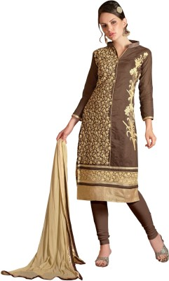 Blissta Chanderi Embroidered Salwar Suit Dupatta Material