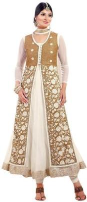 Fabfiza Net Embroidered Salwar Suit Dupatta Material