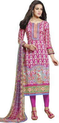 BlueWoman Cotton Printed Semi-stitched Salwar Suit Dupatta Material