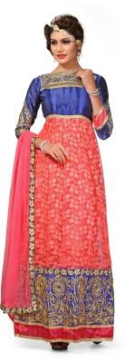 Fashion Dream Net Printed Semi-stitched Salwar Suit Dupatta Material