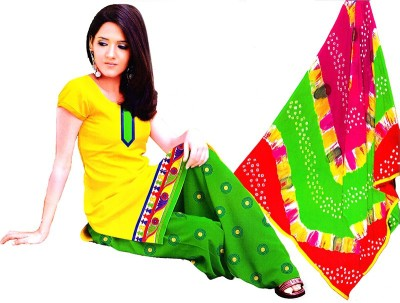 LIFE STYLE FASHION Cotton, Chiffon Embroidered Salwar Suit Dupatta Material
