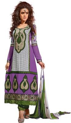 Laroyal Georgette Self Design Semi-stitched Salwar Suit Dupatta Material