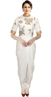 Rozdeal Georgette Embroidered Dress/Top Material
