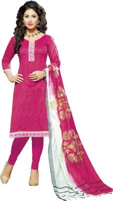 Khoobee Chanderi Self Design Salwar Suit Dupatta Material