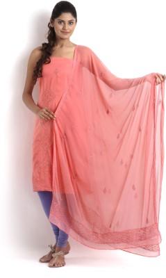 Kasturi-B Swadeshi Karigari Georgette Embroidered Salwar Suit Dupatta Material