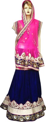 Divya Fashion Designers Velvet, Net Embroidered Lehenga Choli Material
