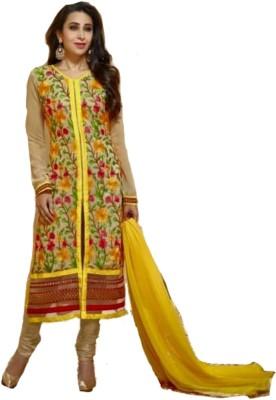 Trendin Stylers Georgette Embroidered Salwar Suit Dupatta Material