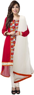 Aapno Rajasthan Georgette Floral Print Semi-stitched Salwar Suit Dupatta Material