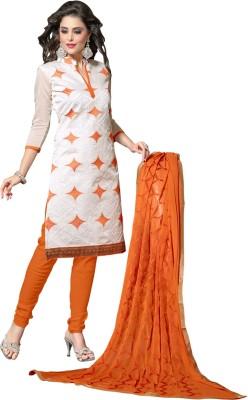Arya Garment Chanderi Embroidered Salwar Suit Dupatta Material
