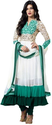 Aditya Creation Georgette Embroidered Semi-stitched Salwar Suit Dupatta Material