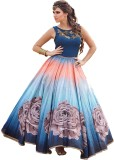 New Look Silk Printed Semi-stitched Gown
