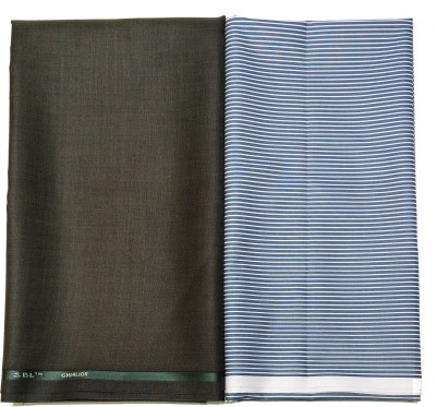 Gwalior Suitings Cotton Polyester Blend Striped Shirt & Trouser Fabric