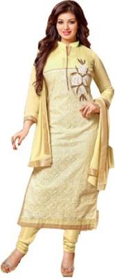 Shree Vardhman Chanderi Houndstooth Semi-stitched Salwar Suit Dupatta Material