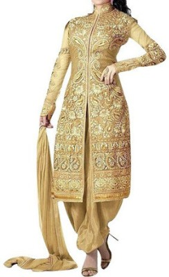 Azy Georgette Embroidered Salwar Suit Dupatta Material