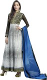 Ada Fabrics Georgette Embroidered Semi-s...