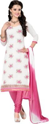 Saara Chanderi Embroidered Dress/Top Material