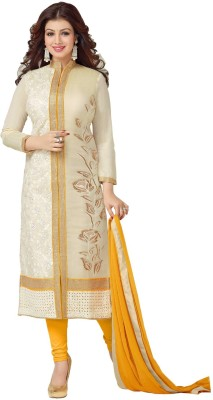 Vaidehi Fashion Chanderi Embroidered Dress/Top Material