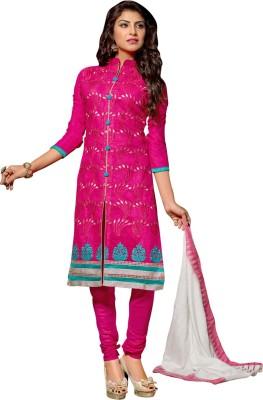 Vastrani Cotton Silk Blend Embroidered Salwar Suit Dupatta Material